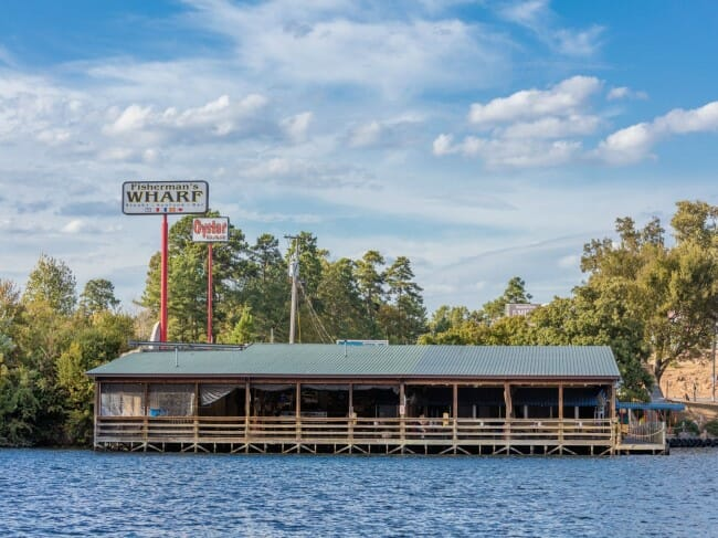 5 Places to Dine on the Water in Arkansas - Fisherman's Wharf