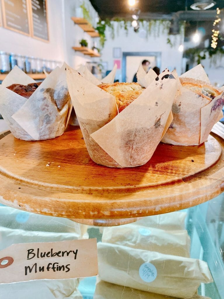 Basecamp Coffee in Fayetteville Arkansas blueberry muffins
