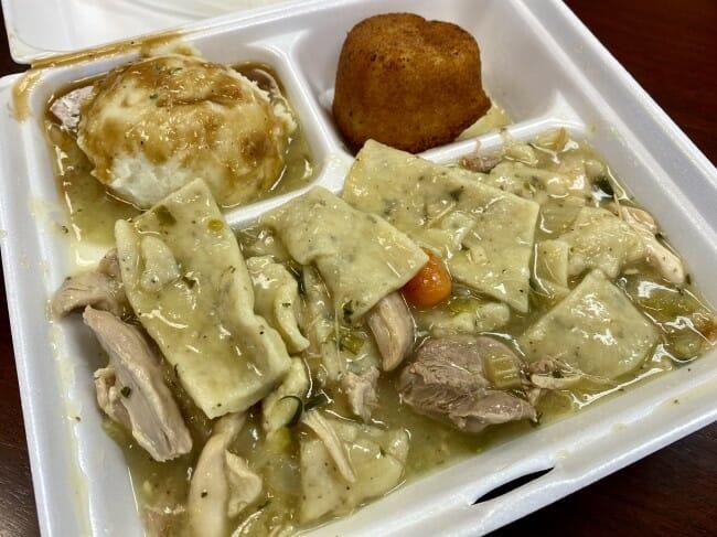 Grider Field Restaurant chicken 'n dumplins