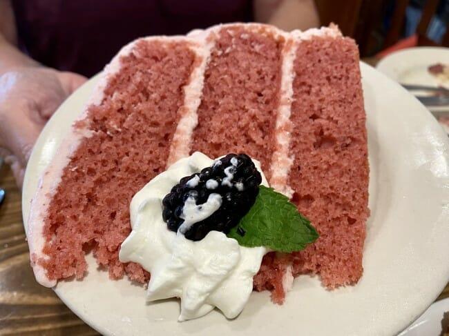 Blue Heaven Strawberry cake
