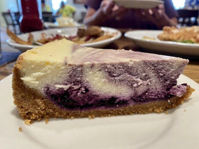 Blue Heaven blueberry cheesecake