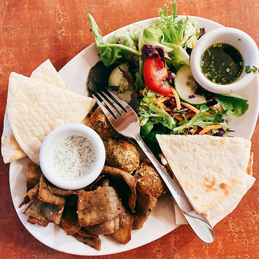Petra Cafe in Fayetteville - gyro plate